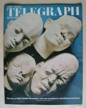 The Daily Telegraph magazine - Rebuilding Human Faces cover (22 September 1972)