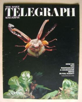 The Daily Telegraph magazine - Cockchafer Beetle cover (6 October 1972)