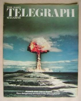 The Daily Telegraph magazine - France And Her H-Bomb cover (2 June 1972)