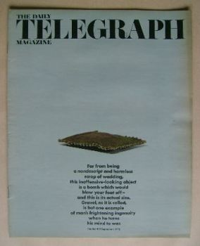 The Daily Telegraph magazine - Bomb cover (1 September 1972)