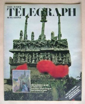 The Daily Telegraph magazine - The Nurseries of Art cover (18 August 1972)