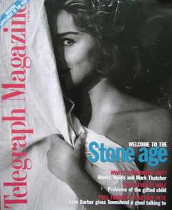 <!--1996-03-09-->Telegraph magazine - Sharon Stone cover (9 March 1996)