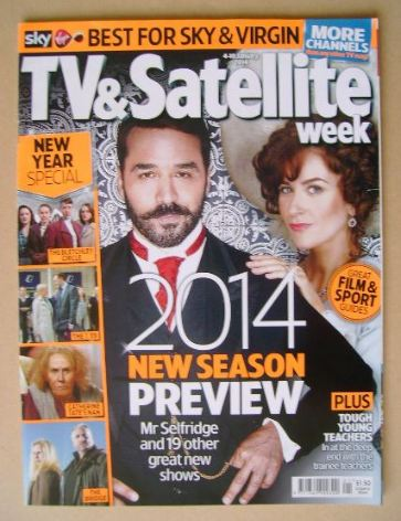 <!--2014-01-04-->TV & Satellite Week magazine - Jeremy Piven and Katherine
