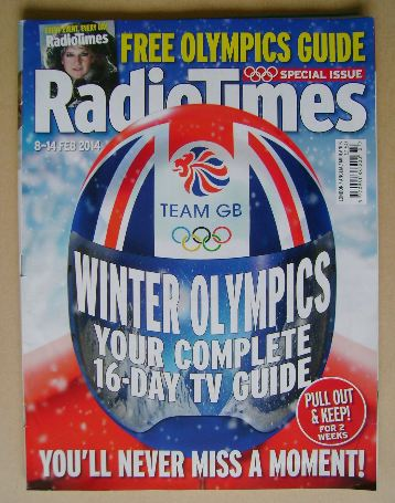 <!--2014-02-08-->Radio Times magazine - Winter Olympics cover (8-14 Februar