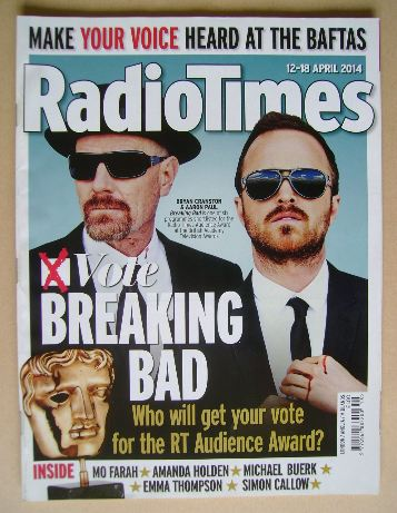 <!--2014-04-12-->Radio Times magazine - Bryan Cranston and Aaron Paul cover