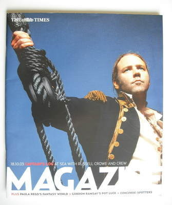 <!--2003-10-18-->The Times magazine - Russell Crowe cover (18 October 2003)