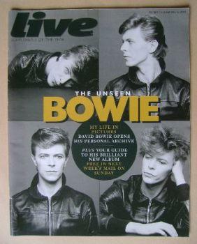 Live magazine - David Bowie cover (22 June 2008)