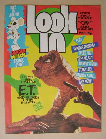 <!--1983-03-12-->Look In magazine - E.T. cover (12 March 1983)