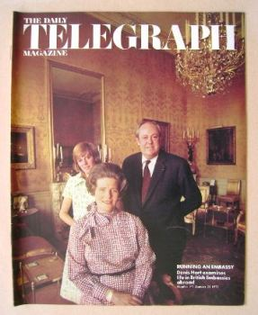 The Daily Telegraph magazine - Mr and Mrs Christopher Soames cover (21 January 1972)