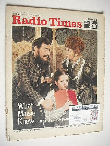 <!--1968-06-01-->Radio Times magazine - What Maisie Knew cover (1-7 June 19