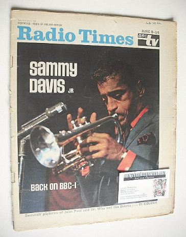 <!--1968-06-08-->Radio Times magazine - Sammy Davis Jr cover (8-14 June 196