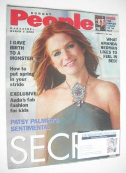 Sunday People magazine - 3 March 2002 - Patsy Palmer cover