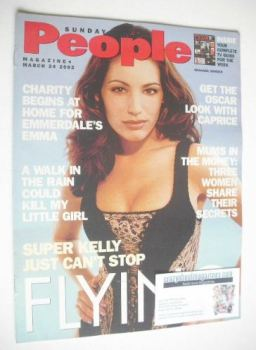 Sunday People magazine - 24 March 2002 - Kelly Brook cover