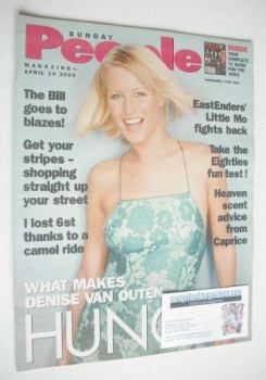 Sunday People magazine - 14 April 2002 - Denise Van Outen cover