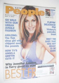 Sunday People magazine - 5 May 2002 - Jennifer Aniston cover
