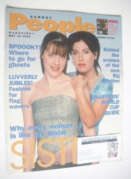 Sunday People magazine - 19 May 2002 - Jessie Wallace and Michelle Ryan cover