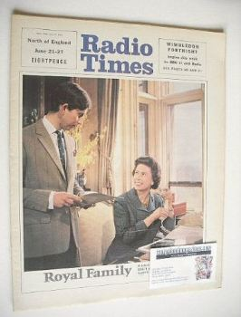 Radio Times magazine - Prince Charles and The Queen cover (21-27 June 1969)