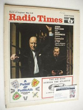 Radio Times magazine - John Gielgud and Alec Guinness cover (3-9 May 1969)