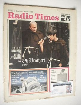 Radio Times magazine - Oh Brother cover (12-18 April 1969)