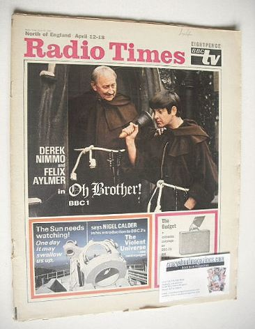 <!--1969-04-12-->Radio Times magazine - Oh Brother cover (12-18 April 1969)