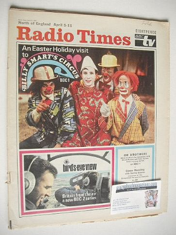 <!--1969-04-05-->Radio Times magazine - Billy Smart's Circus cover (5-11 Ap