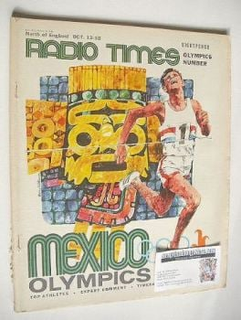 Radio Times magazine - Mexico Olympics cover (12-18 October 1968)