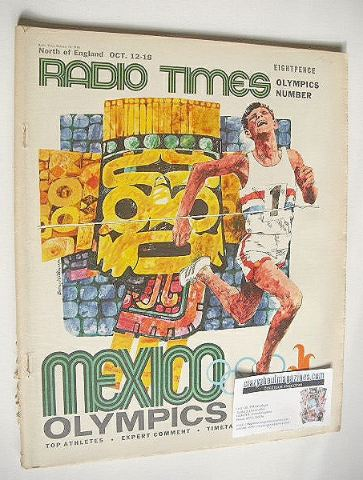 <!--1968-10-12-->Radio Times magazine - Mexico Olympics cover (12-18 Octobe