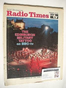 Radio Times magazine - The Edinburgh Military Tattoo cover (17-23 August 1968)