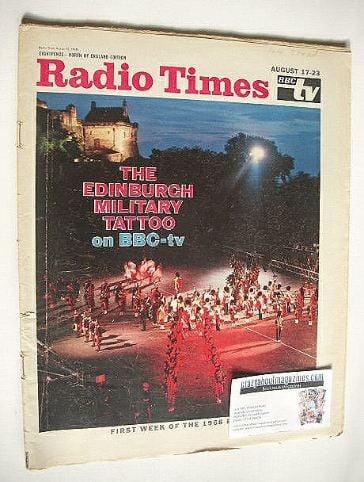 <!--1968-08-17-->Radio Times magazine - The Edinburgh Military Tattoo cover