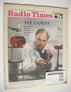 Radio Times magazine - Marius Goring cover (29 June - 5 July 1968)