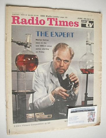 <!--1968-06-29-->Radio Times magazine - Marius Goring cover (29 June - 5 Ju