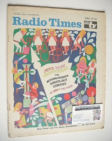 <!--1968-06-15-->Radio Times magazine - International Knock-Out Contest cov
