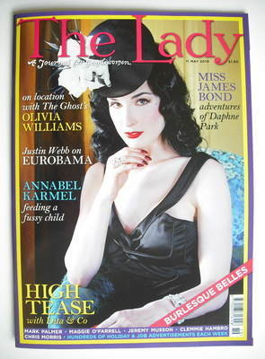 <!--2010-05-11-->The Lady magazine (11 May 2010 - Dita Von Teese cover)