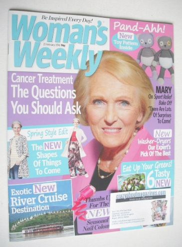 <!--2016-02-23-->Woman's Weekly magazine (23 February 2016 - Mary Berry cov