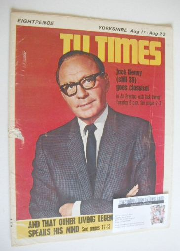 <!--1968-08-17-->TV Times magazine - Jack Benny cover (17-23 August 1968)