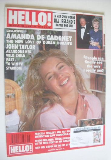 <!--1990-05-12-->Hello! magazine - Amanda de Cadenet cover (12 May 1990 - I