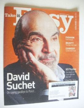 Take It Easy magazine - David Suchet cover (10 November 2013)