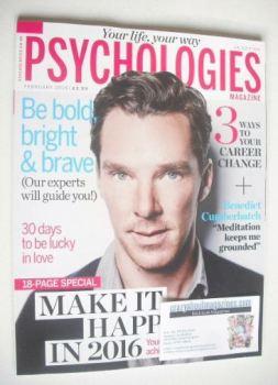 Psychologies magazine - February 2016 - Benedict Cumberbatch cover