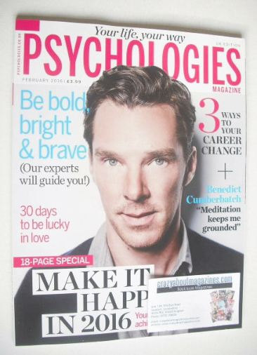 <!--2016-02-->Psychologies magazine - February 2016 - Benedict Cumberbatch