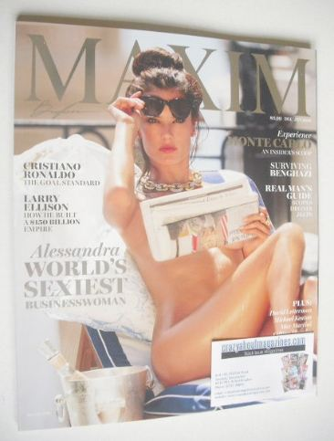 <!--2015-12-->MAXIM magazine - Alessandra Ambrosio cover (December 2015/Jan