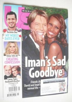 US Weekly magazine - 1 February 2016 - David Bowie & Iman cover