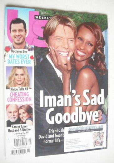 <!--2016-02-01-->US Weekly magazine - 1 February 2016 - David Bowie & Iman