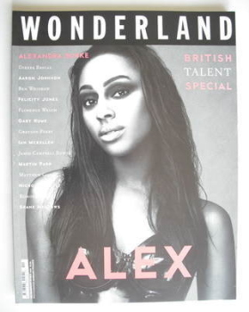 Wonderland magazine - November/December 2009 - Alexandra Burke cover