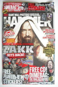 Metal Hammer magazine - Zakk Wylde cover (May 2010)