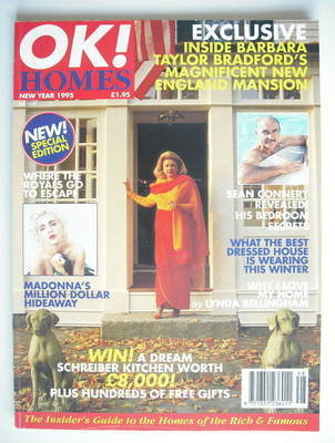 OK! Homes magazine - Barbara Taylor Bradford cover (New Year 1995)