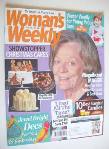 <!--2015-11-17-->Woman's Weekly magazine (17 November 2015 - Maggie Smith c