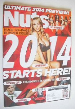 Nuts magazine - Sophie Reade cover (27 December 2013 - 2 January 2014)