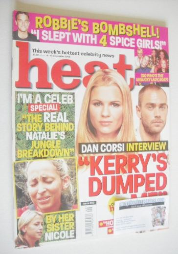<!--2004-12-04-->Heat magazine - Kerry Katona and Dan Corsi cover (4-10 Dec
