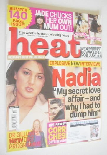 <!--2004-10-30-->Heat magazine - Nadia Almada cover (30 October - 5 Novembe