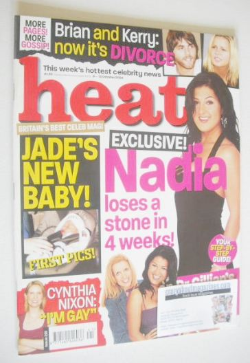 <!--2004-10-09-->Heat magazine - Nadia Almada cover (9-15 October 2004 - Is